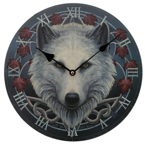 Guardian of the Fall Wolf Clock - Lisa Parker