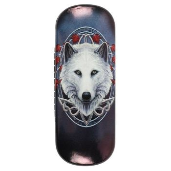 Guardian of the Fall Wolf Hard Glasses Case - Lisa Parker