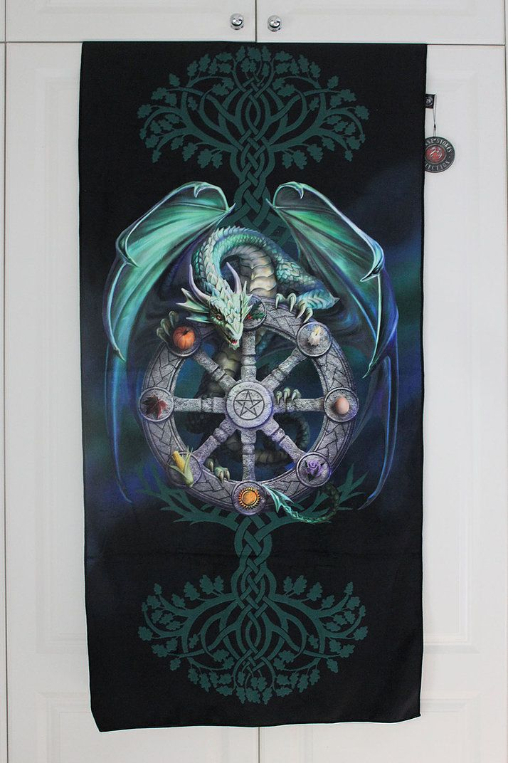 Wheel of the Year Magical Dragon Towel - Anne Stokes