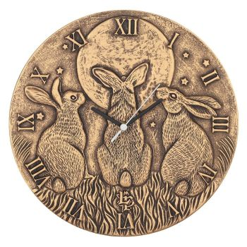 Stunning Lisa Parker Wall Clock - Moon Shadows - Bronze Effect Terracotta
