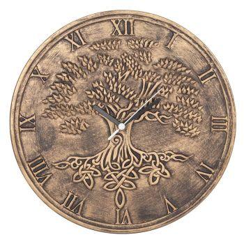 Stunning Lisa Parker Wall Clock - Tree of Life - Bronze Effect Terracotta