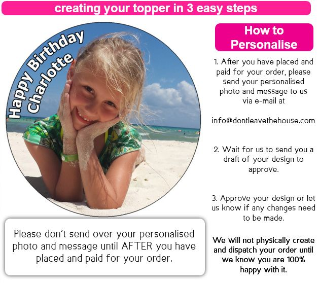 How to Personalise a Personalised Photo Order - Website