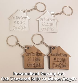 Our First Home, 2 x Keyrings