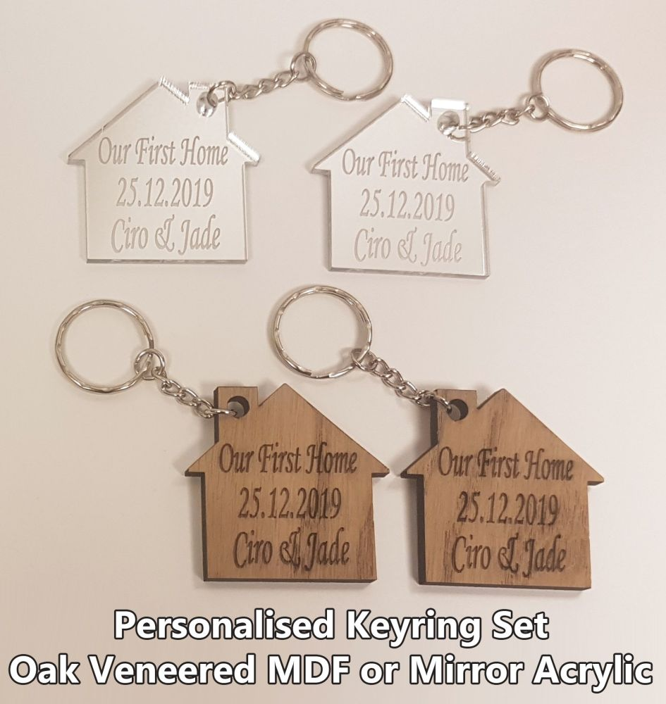 Our First Home Keyring Set