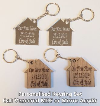 Our New Home, 2 x Keyrings