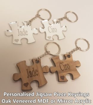 Jigsaw Piece, 1 x Keyring