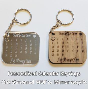 Calendar, 1 x Keyring