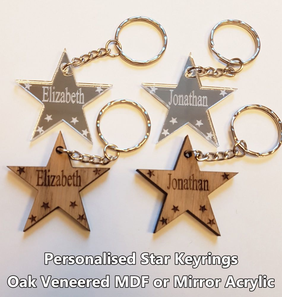 Star Piece, 1 x Keyring