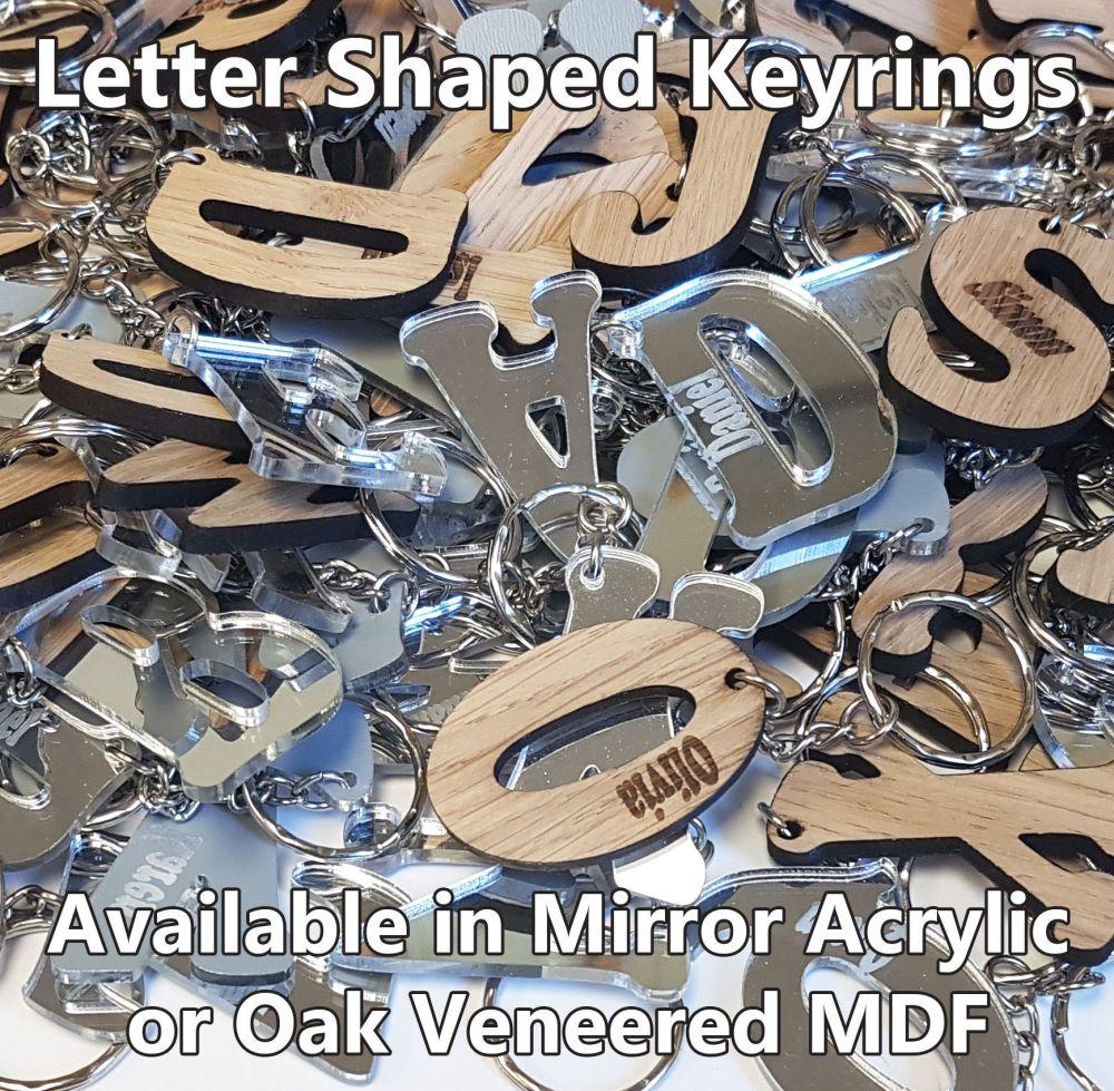 Alphabet Letter, 1 x Keyring