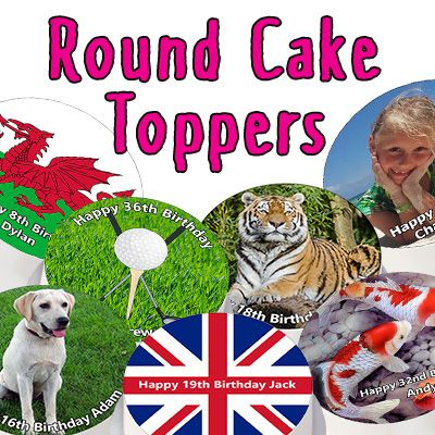 Round Cake Toppers