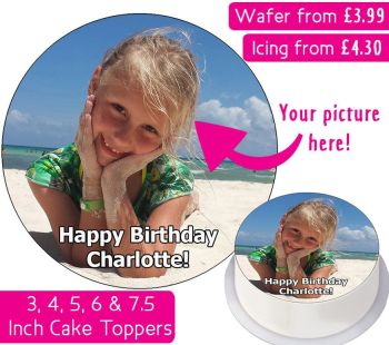 Your Own Personalised Photo Cake Topper