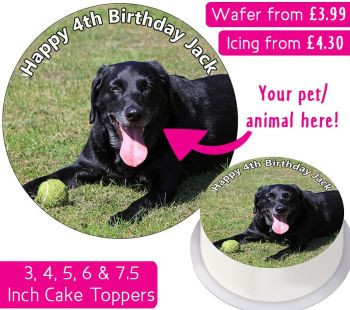 Your Own Pet/Animal Personalised Photo Cake Topper