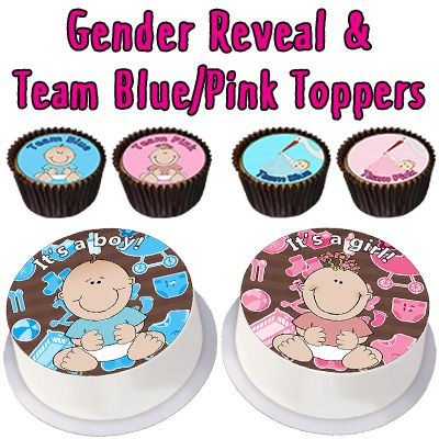 Gender Reveal & Team Blue/Pink Toppers