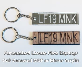License Plate, 1 x Keyring