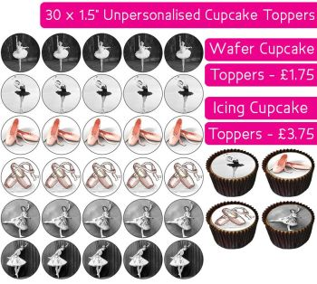 Ballet - 30 Cupcake Toppers