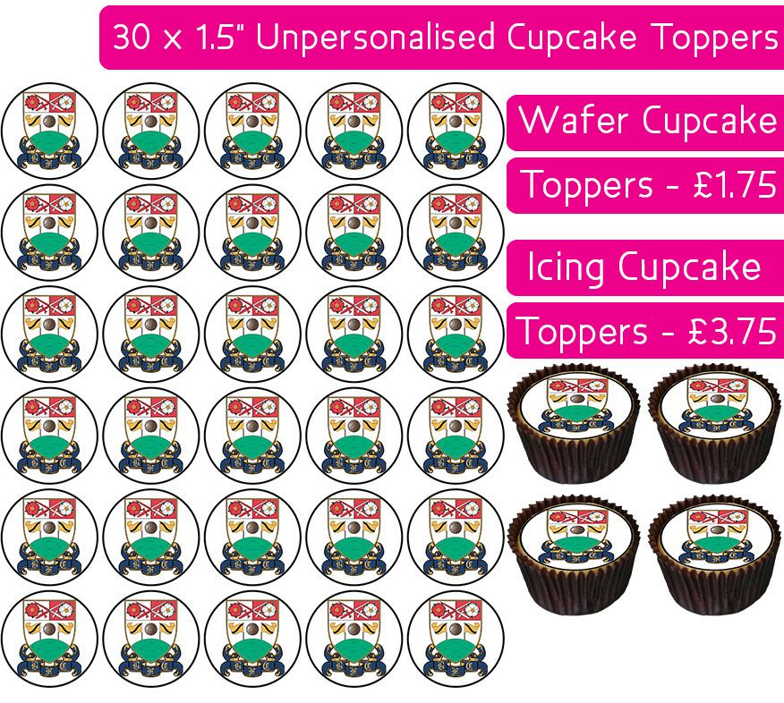 Barnet Football - 30 Cupcake Toppers