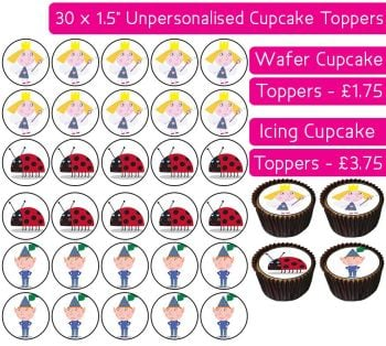 Ben & Holly's Little Kingdom - 30 Cupcake Toppers