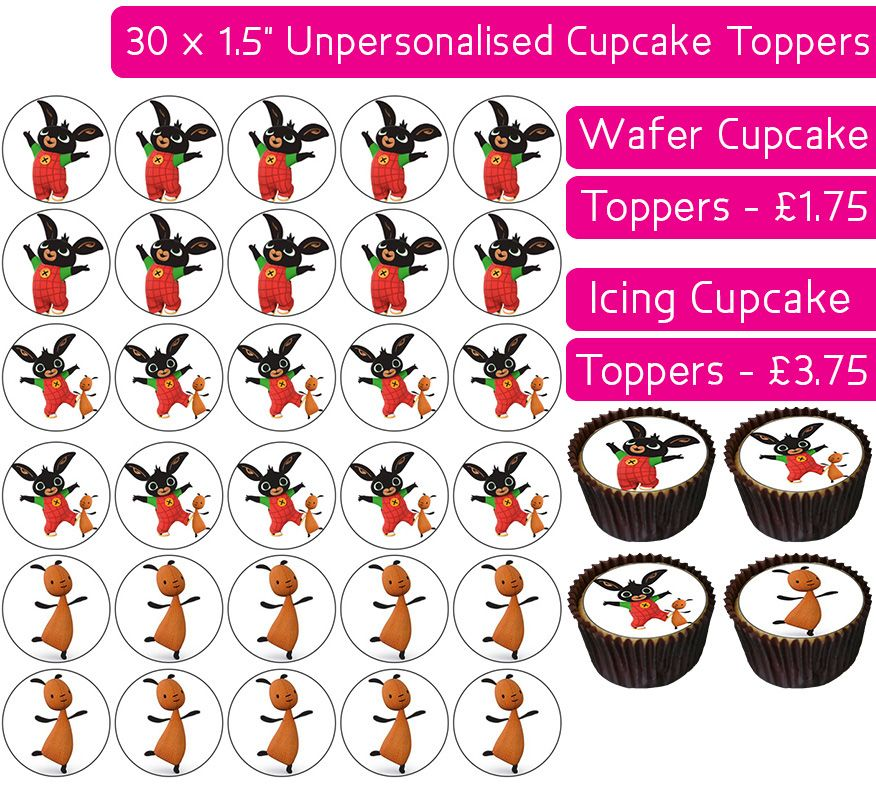 Bing Cbeebies - 30 Cupcake Toppers