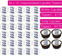 Birmingham City Football - 30 Cupcake Toppers