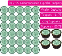 Celtic Football - 30 Cupcake Toppers