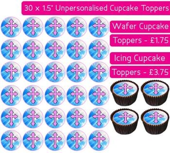 Communion Pink - 30 Cupcake Toppers