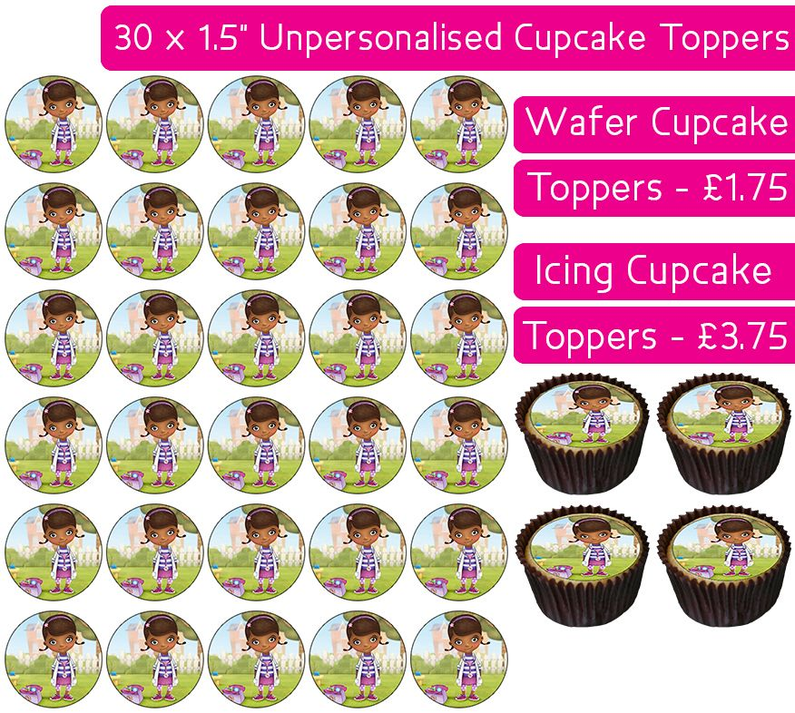 Doc McStuffins - 30 Cupcake Toppers