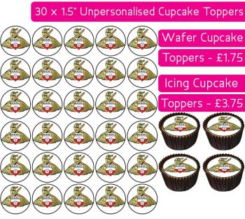 Doncaster Rovers Football - 30 Cupcake Toppers