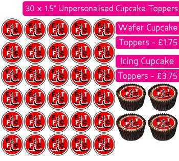 Fleetwood Town Football - 30 Cupcake Toppers