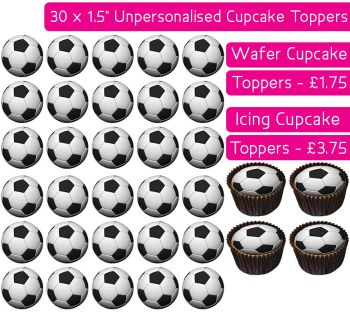 Football - 30 Cupcake Toppers