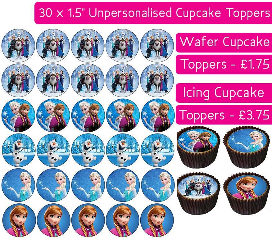 Frozen Team - 30 Cupcake Toppers