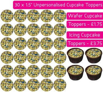 Full of Minions - 30 Cupcake Toppers