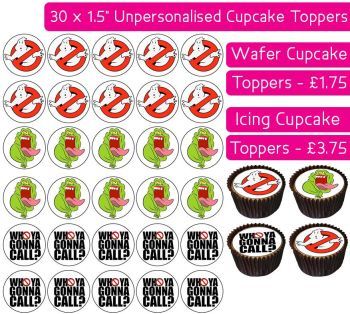 Ghostbusters - 30 Cupcake Toppers