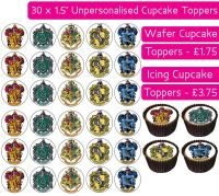 Harry Potter Hogwarts - 30 Cupcake Toppers