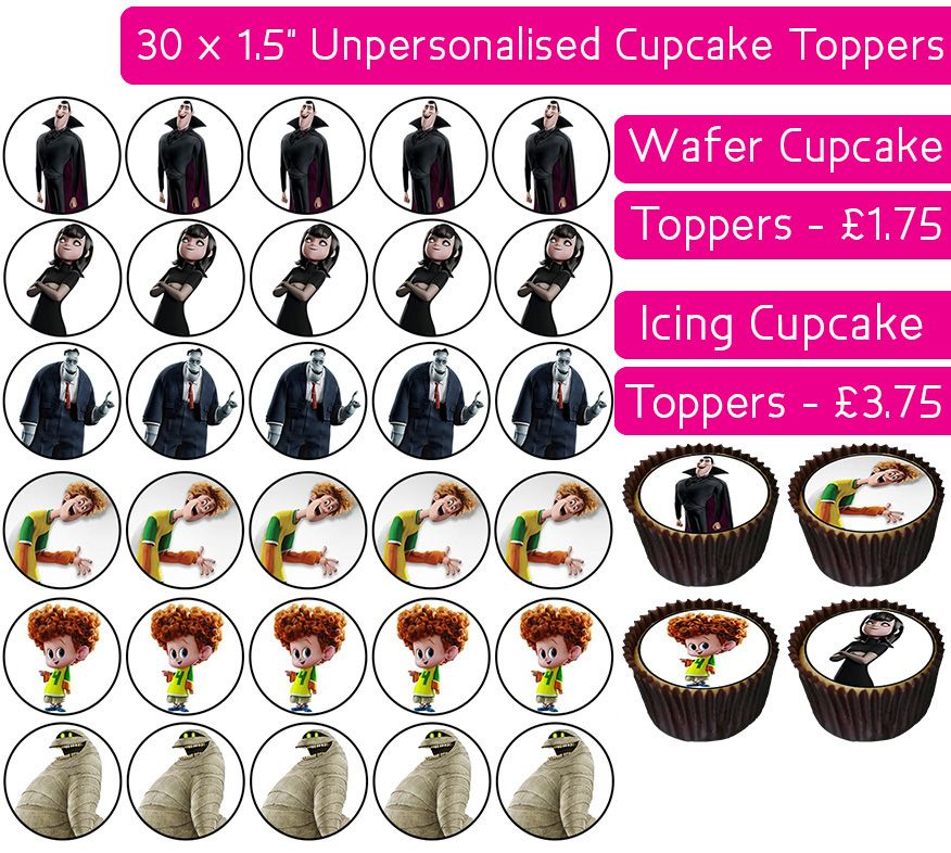 Hotel Transylvania - 30 Cupcake Toppers