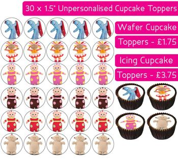 In The Night Garden - 30 Cupcake Toppers
