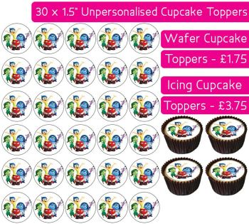 Inside Out Gang - 30 Cupcake Toppers