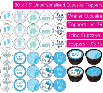 It's a Boy - 30 Cupcake Toppers