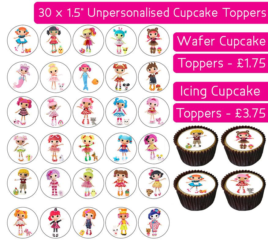Lalaloopsy - 30 Cupcake Toppers