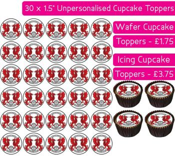 Leyton Orient Football - 30 Cupcake Toppers