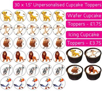 Lion King - 30 Cupcake Toppers