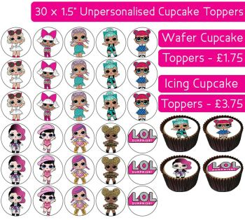 Lol Surprise - 30 Cupcake Toppers