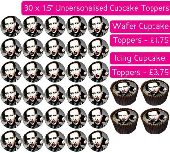 Marilyn Manson - 30 Cupcake Toppers