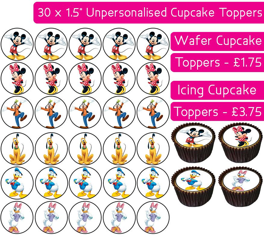 Mickey Mouse Clubhouse - 30 Cupcake Toppers
