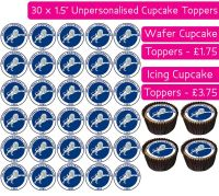 Millwall Football - 30 Cupcake Toppers