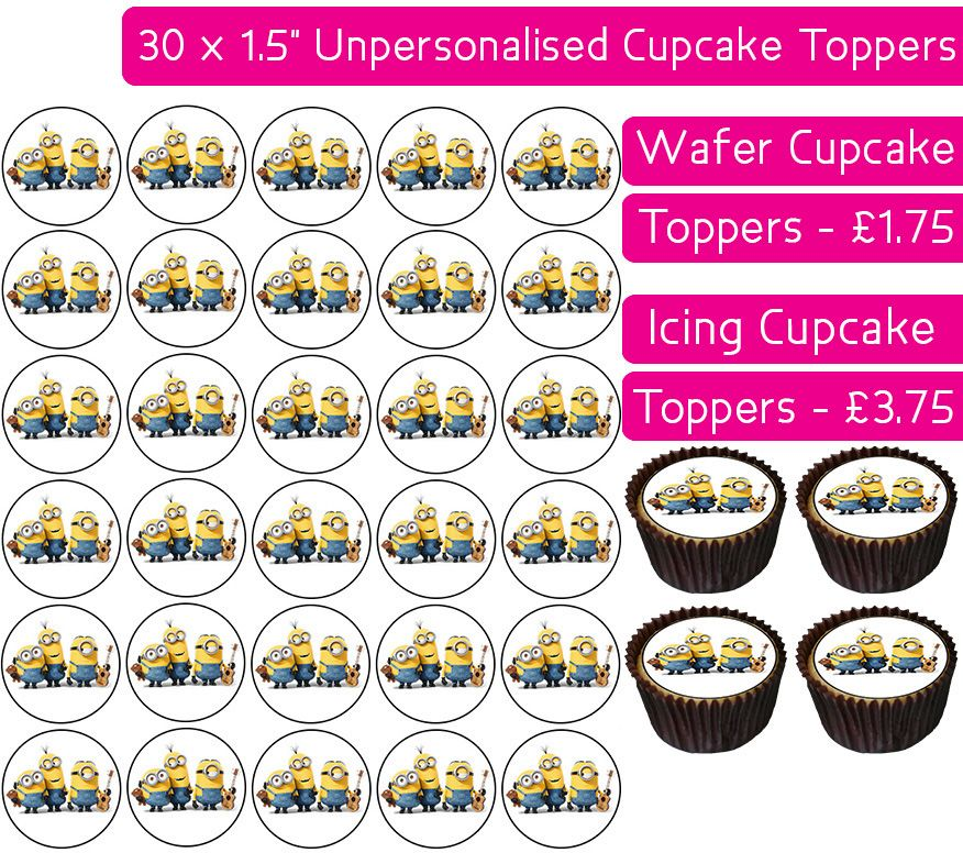 Minions Gang - 30 Cupcake Toppers