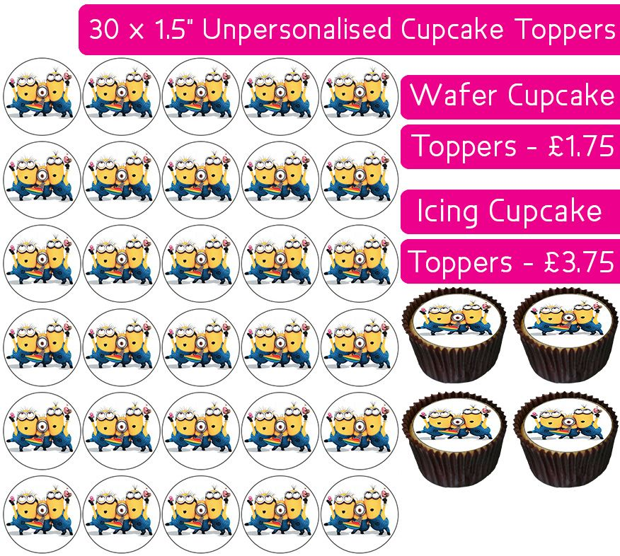Minions Party - 30 Cupcake Toppers