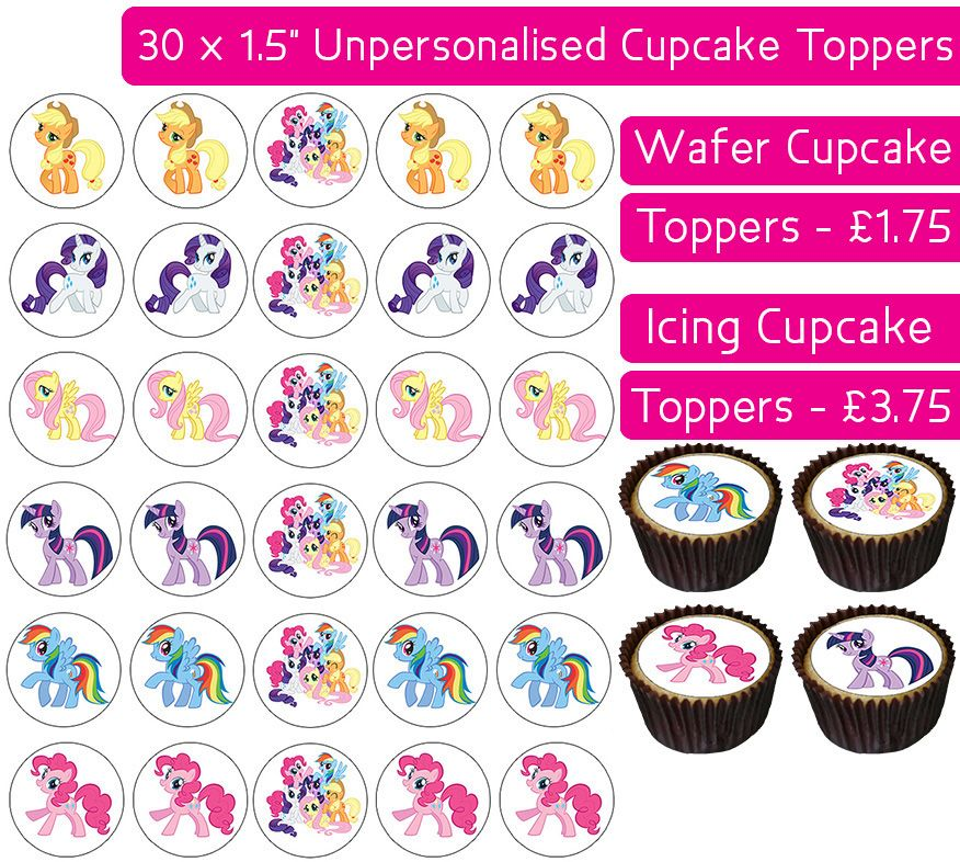 MLP My Little Pony Gang - 30 Cupcake Toppers