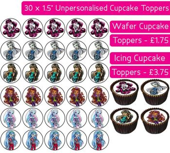 Monster High - 30 Cupcake Toppers