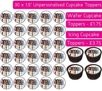 Monster High Gang - 30 Cupcake Toppers