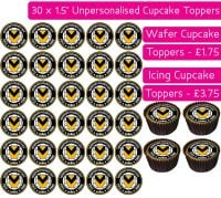Newport County Football - 30 Cupcake Toppers